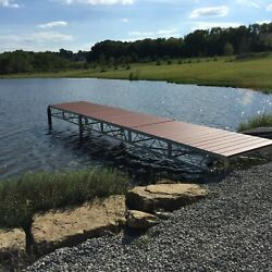 Rolling 4x8ft Aluminum Jack Dock Sections | Free Shipping