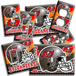 Tampa Bay Buccaneers Football Team Light Switch Outlet Wall Plate Man Cave Decor
