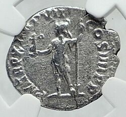 Commodus The Gladiator Emperor 184ad Silver Roman Coin Roma Victory Ngc I81456