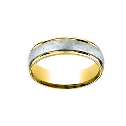 14k Two-toned Comfort-fit Carved Menand039s Ring Swirl Finish Sz 10