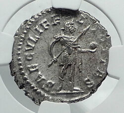 Postumus W Spear And Globe Authentic Ancient Gallic 267ad Roman Coin Ngc I81660