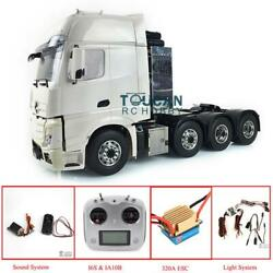 LESU Metal 8*8 Chassis Mercedes 1/14 RC Tractor Hercules Truck Cabin Sound Light
