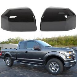For 2015-2020 Ford F150 Truck Mirror Cover Skull Cap Painted Black Pair Set Of 2