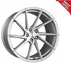 4ea 19/20 Staggered Stance Wheels Sf01 Brush Face Silver Rims S4