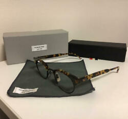 Tom Brown Glasses With Tortoiseshell Pattern Tricolor Stripes Mens Box size