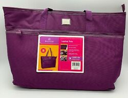 BRAND NEW Protege Purple Laptop Travel Tote Bag for Women $17.99