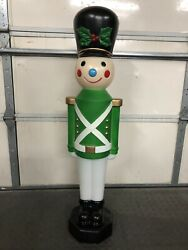 42 Blow Mold Toy Soldier Green