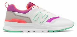 New Balance Women's 997H Shoes White with Purple