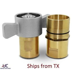 1 Npt Wet Line Wing Nut Hydraulic Quick Disconnect Coupler Set