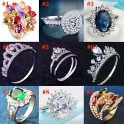 2020 Fashion Personalized Women Ring Copper Silver Mother Jewelry Gift $3.99