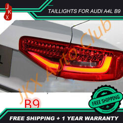For Audi A4 2013-17 Led Tail Lights Assembly Red O Led Rear Tail Brake Lamps Kit