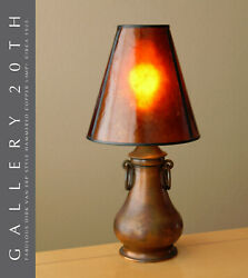 Wow Rare Copper Table Lamp Arts And Crafts Mica Shade After Dirk Van Erp 20s 30s