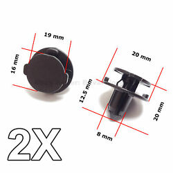 2x Bumper Air Duct Bumper Shield Protector Clips For Nissan