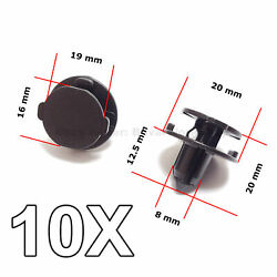 10x Bumper Air Duct Bumper Shield Protector Clips For Nissan
