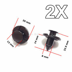 2x Trim Clips For Bumpers Splashguards Wheel Arch For Mitsubishi And Nissan