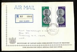 1974 Cook Islands Stamp 3 Cover