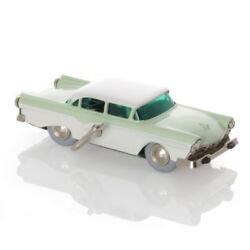 Schuco Micro Racer Ford Fairlaine Lime Green/white - Mechanical Tin Toy