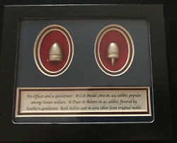 Civil War Bullets Cast From Original Molds In 90 Silver. Colt And Dean And Adams