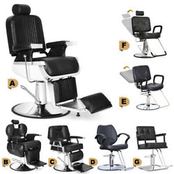All Purpose Hydraulic Classic Barber Chair Salon Beauty Spa Shampoo Hair Stylin