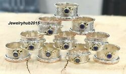 50 pes 925 Sterling Silver Spinner Ring Amethyst Ring Size Your Chose sr303
