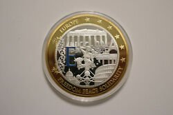 Medaille Gigant Europa Freedom Peace Solidarity Euro Pp