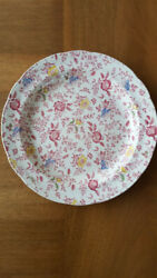 Antique 12.5 Round Platter By Empire Chintz Stoke On Trent England Floral China