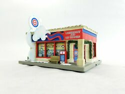 Hawthorne Village Chicago Cubs Laundromat 2005 Christmas Display Authentic $46.75