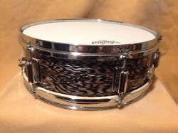 Very Rare 60's Vintage Rogers Luxor Black Onyx Pearl Snare Drum  5