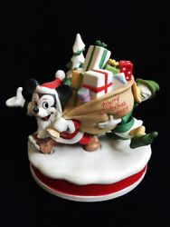 Disney Collection Christmas 1985 Santaand039s Helpers Mickey Donald Figurine Limited