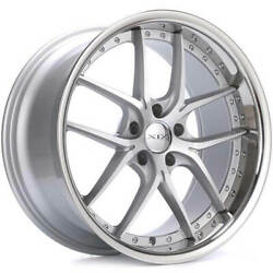 4ea 20 Staggered Xix Wheels X61 Silver Machined With Ss Lip Rims S1
