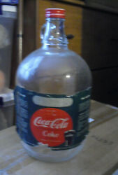 Vintage 1950s Coca Cola One Gallon Syrup For Soda Fountains Bottle