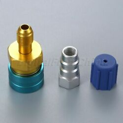 Quick Coupler R12 to R134a Adapter Service Port Cap 1/4