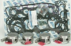 Wsm Complete Top End Kit For .25mm Bore Pistons Rings Gaskets 010-874-11p