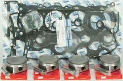 Wsm Complete Top End Kit For .25mm Bore Pistons Rings Gaskets 010-873-11p