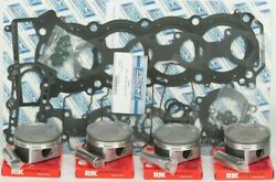 Wsm Complete Top End Kit For Standard Bore Pistons Rings Gaskets 010-873-10p