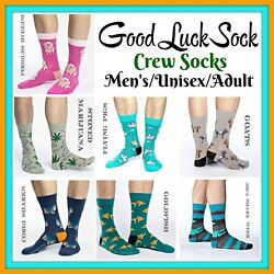 Good Luck Sock Menand039s Unisex Crew Socks One Size Fits Shoe Sizes 7--12 Buy 2-save