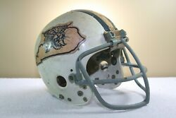 1973 Kentucky Wildcats Game Used Worn Riddell M155 Micro Fit Football Helmet 87