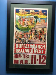 Vintage Real Wild West Poster Traveling Wild West Shows Western Americana