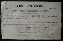 Peru Chile Pacific War 10 P Military Bill Script Interest 6 1883 Caceres Signed