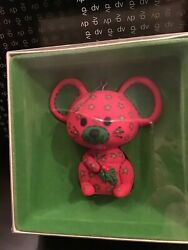 Vintage Hallmark Tree-Trimmer Collection Calico Red Green Mouse 1978 In Box