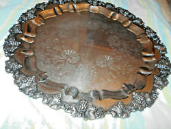 Eg Webster And Son Egwands Serving Tray Rococo, 21diameter 7.5 Pounds C. 1890's