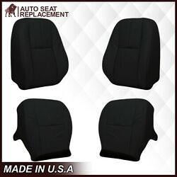 2007-2014 Gmc Sierra And Chevy Silverado Tahoe Leather Seat Covers Black