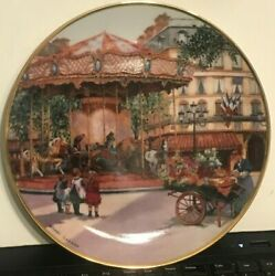 Franklin Mt Carousel Enchantment By Sandi Lebron Collector Plate Porcelain F1107