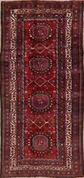 Vintage Malayer Oriental All-over Runner Rug Hand-knotted Kitchen Carpet 4x9