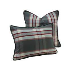 Plaid corded pillow coverDecorative pillow covers