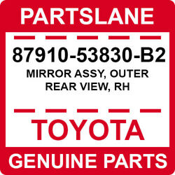 87910-53830-b2 Toyota Oem Genuine Mirror Assy Outer Rear View Rh