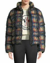 Nwt Moncler Labbe Giubbotto Plaid Down-fill Coat Size 2 M