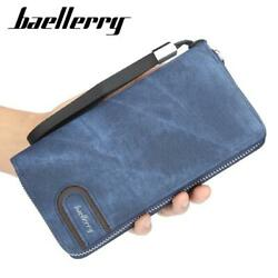 New Patchwork Credit Card Wallet PU Portable Longwallet Clutch Wallet for Men $11.99
