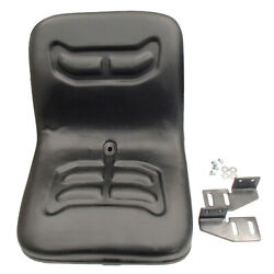 Black Tractor Seat With Brackets Fits Bobcat 463 542 641 653 742 763 773 853