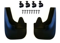 2 X 4x4 Moulded Universal Fit Mud Flap Mudflaps + Fittings For Jeep Models